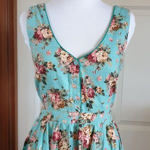 Lucca Couture Dresses - LUCCA COUTURE turquoise blue floral backless dress